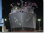 USNS Cesar Chavez almost fully afloat May 5, 2012.